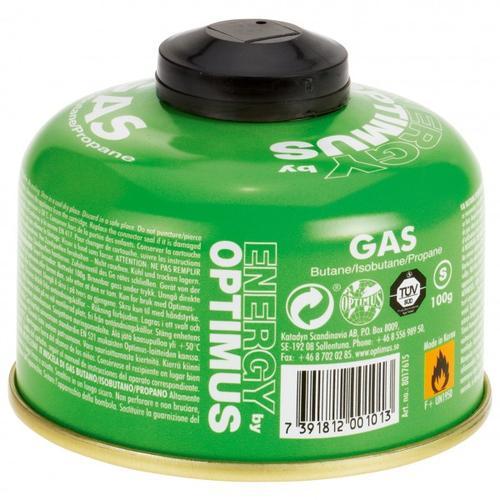 Optimus - Gas Butan/Isobutan/Propan - Gaskartusche Gr 450 g grün