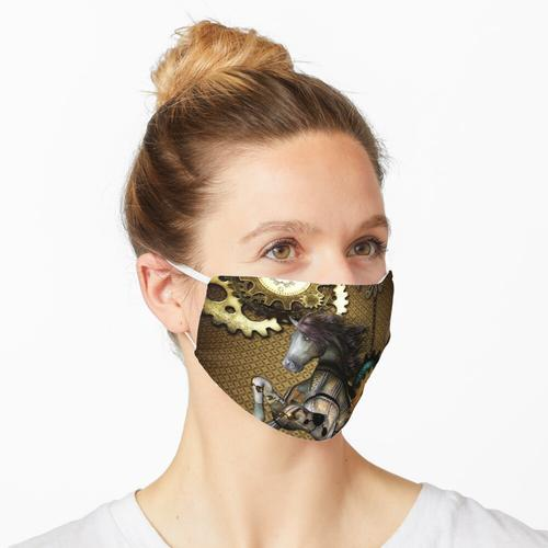Steampunk, tolles Steampunk-Pferd Maske