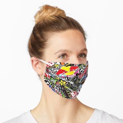 Aufkleber Logo Collage Maske