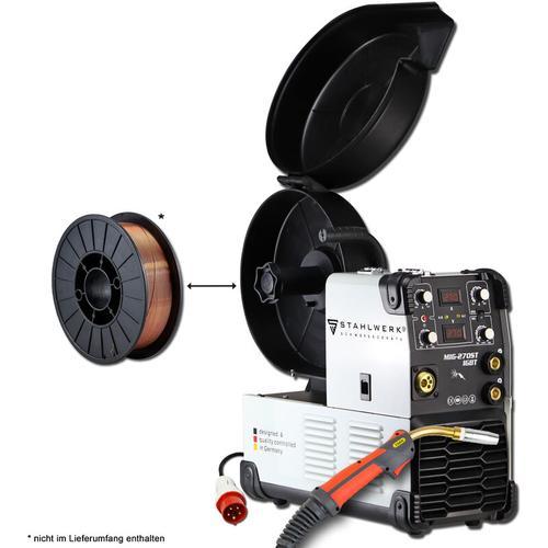 Schweißgerät STAHLWERK MIG 270 ST IGBT - MIG MAG Schutzgas Schweißanlage mit 270 Ampere, MMA