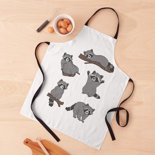 Waschbären Schürze