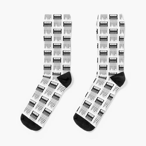Rechner Kraftwerk Taschenrechner Kraftwerk Synth Pop TOP Vintage Socken