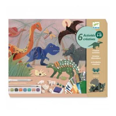 Djeco - Multi Activity Dinosaur Box