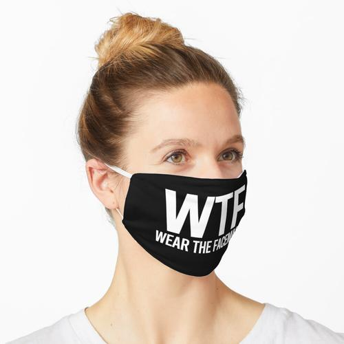 WTF Wear The Facemask Washable Face Maske