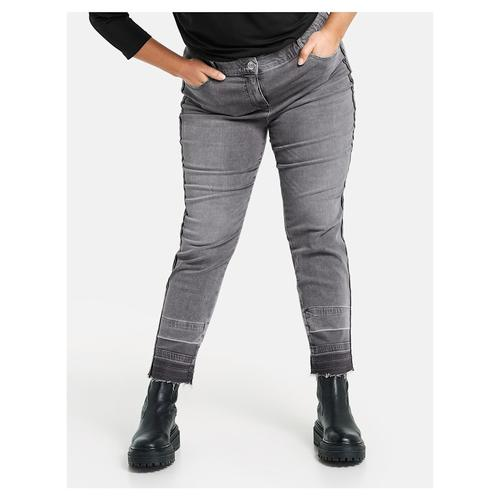 3/4 Betty Jeans mit seitlichem Deko-Tape Samoon Grey Denim