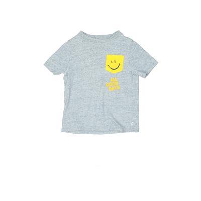 Gap Kids Short Sleeve T-Shirt: Blue Tops - Size X-Small