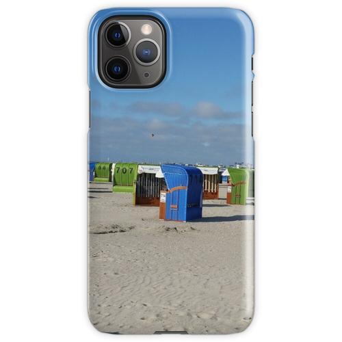 Nordsee Strand mit Strandkörben iPhone 11 Pro Handyhülle