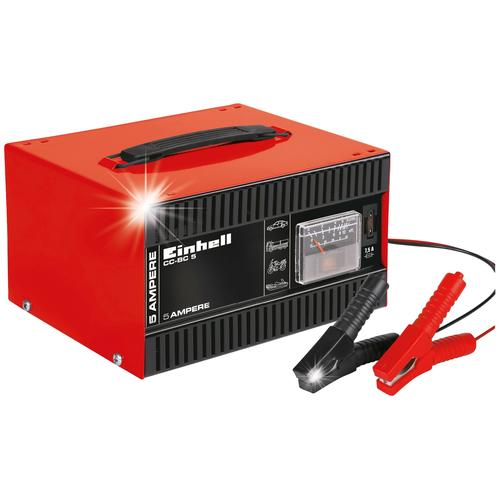 Einhell Autobatterie-Ladegerät CC-BC 5, 5000 mA, 5 A Ladestrom rot Autobatterie-Ladegeräte Autozubehör Reifen
