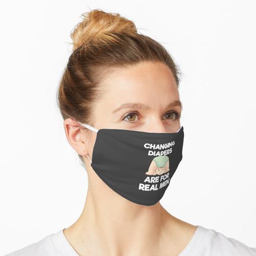 Mens SAHD Bleiben Sie zu Hause Papa Geschenk Wickeln Windeln Real Men Geschenk Maske