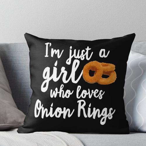 Zwiebelringe Onion Rings Kissen