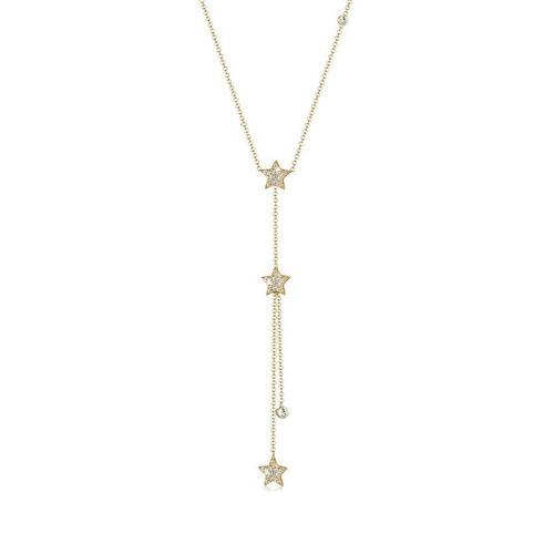 Elli Collierkettchen »Sterne Y-Kette Kristalle Silber«