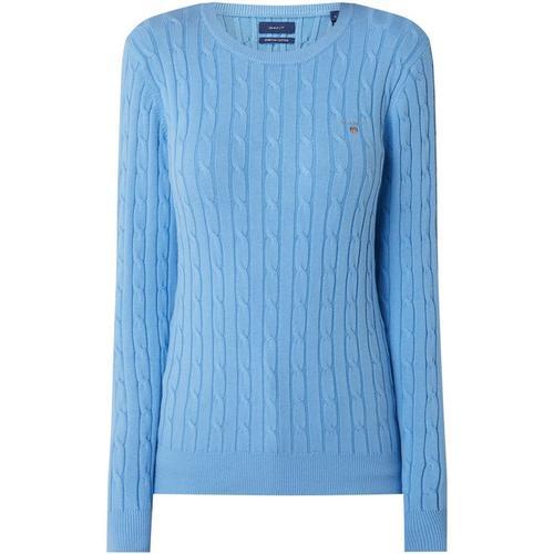 Gant Pullover mit Zopfmuster