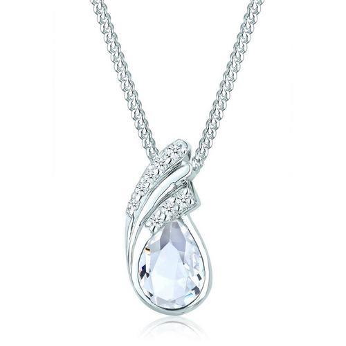 Elli Collierkettchen »Tropfen Drop Kristalle 925 Silber«