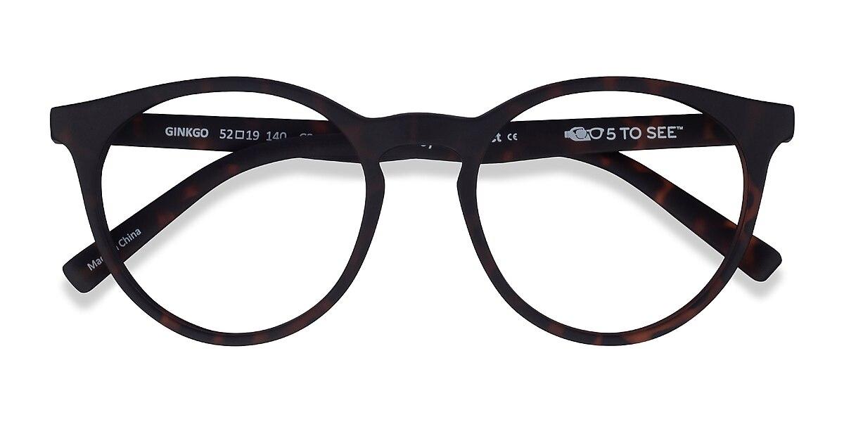 Unisex Round Warm Tortoise Plastic Prescription eyeglasses - EyeBuydirect's Ginkgo