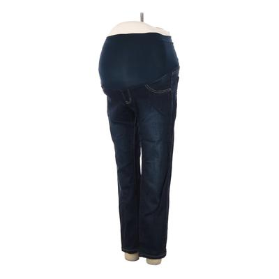 LED Luxe Essentials Denim Jeans - Low Rise: Blue Bottoms - Size 27 Maternity