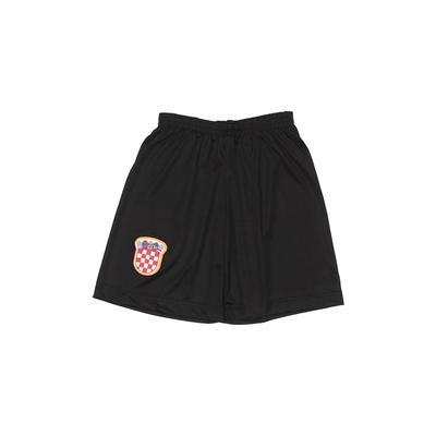 Athletic Shorts: Black Print Spo...