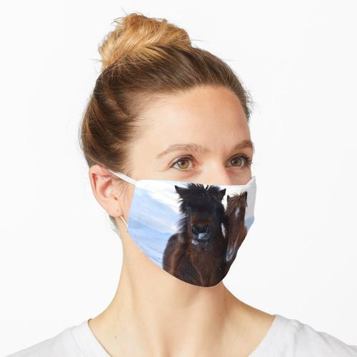 Fluff und flauschiger Maske