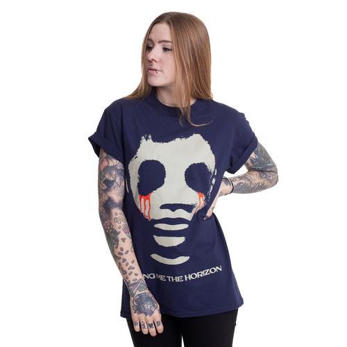 Bring Me The Horizon - Teardrops Navy - - T-Shirts