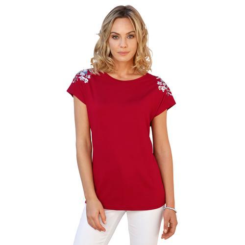 Amy Vermont Paillettenshirt, mit Pailletten rot Damen Jersey Shirts Sweatshirts Paillettenshirt