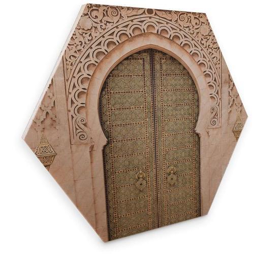 Wall-Art Holzbild »Marokkanische Tür Holzbild«, (1 Stück)