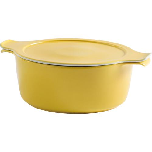 Eschenbach Kochtopf Cook & Serve, Porzellan, (1 tlg.), Ø 24, 4 Liter, Induktion gelb Gemüsetöpfe Töpfe Haushaltswaren