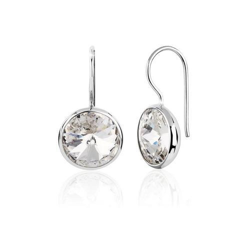 Nenalina Paar Ohrhänger »Ohrhänger Solitär Kristallen 925 Silber«