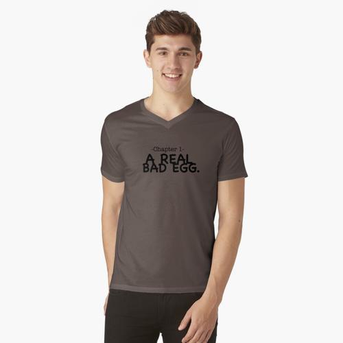Echtes schlechtes Ei-Design t-shirt:vneck