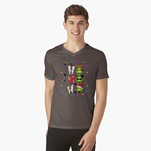 ho ho ho grinch t-shirt:vneck