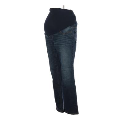 Indigo Blue Jeans - Low Rise: Blue Bottoms - Size X-Small Maternity