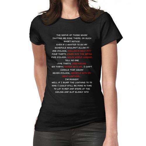 Grinch Grinch Schedule Song Frauen T-Shirt