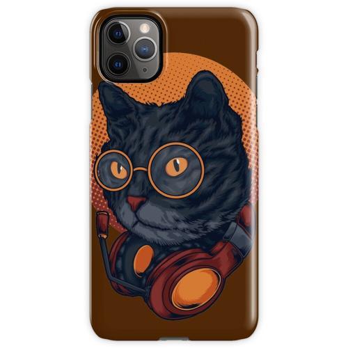 Black Cat Music DJ Headset mit Brille iPhone 11 Pro Max Handyhülle