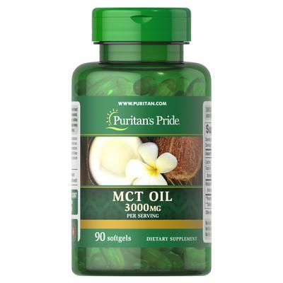 Puritan's Pride MCT Oil 3,000 mg per serving-90 Softgels