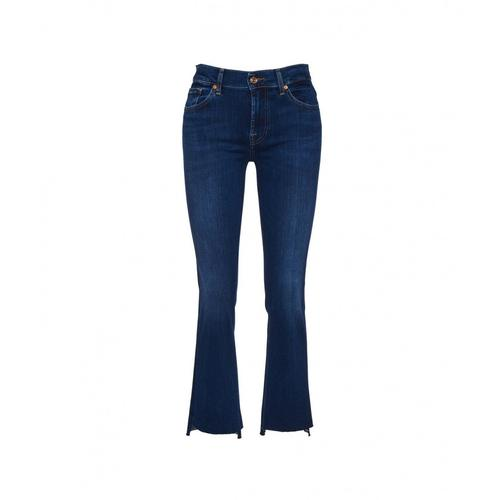 7 for all mankind Damen Ankle Boot Jeans Blau