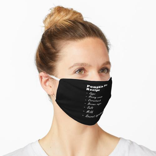 Das beste Kürbiskuchenrezept Maske