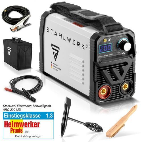 Schweißgerät ARC 200 MD IGBT - MMA / E-Hand Schweißanlage mit echten 200 Ampere sehr kompakt, weiß,