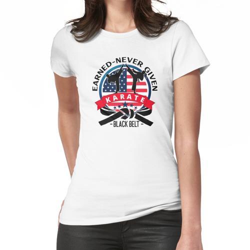 Karate, Black Belt Karate, USA Karate Frauen T-Shirt