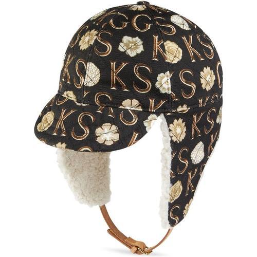 Gucci Fliegermütze mit Print von Ken Scott