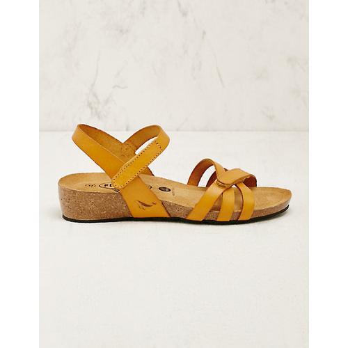 Plakton Damen Leder-Sandalen Sighild gelb