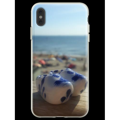 Dutch Clogs Summer Beach Flexible Hülle für iPhone XS Max