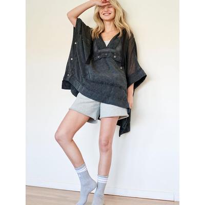 Day Drifter Poncho - Black - Free People Knitwear