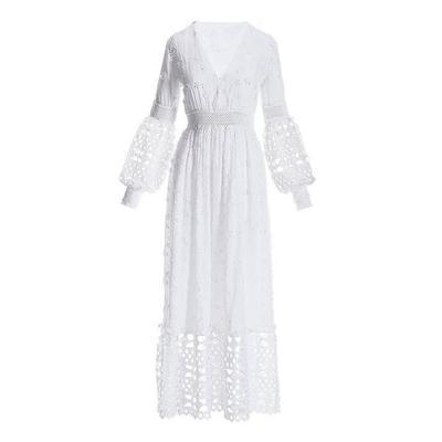 Boston Proper - Mixed Media Lace Dress - White - Medium