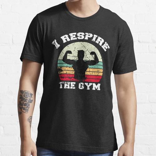 Ich atme das Fitnessstudio, das Fitnessstudio, das Training im Fitnessstudio Essential T-Shirt