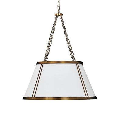 Camille Hanging Shade 6-Light Chandelier with White Shade - Ballard Designs