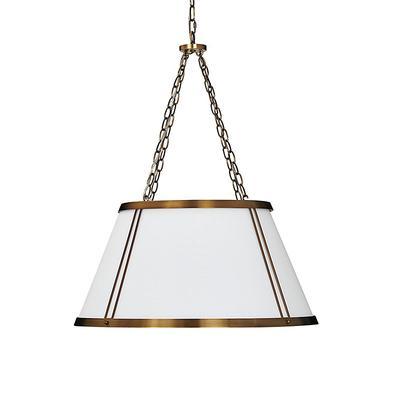 Camille Hanging Shade 6-Light Chandelier with White Shade - Ballard Designs