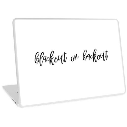 Blackout oder Backout Laptop Skin