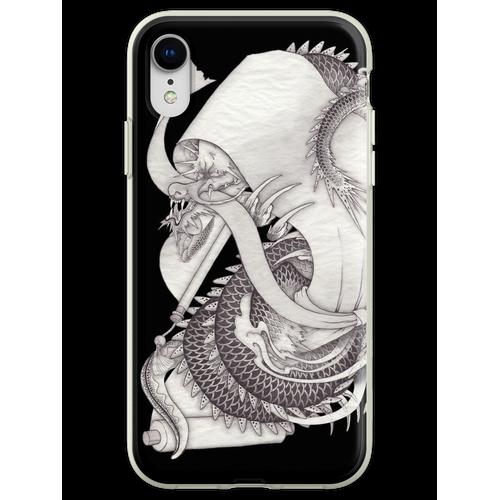 Lange Schlange lange Schlange lange Schlange Flexible Hülle für iPhone XR
