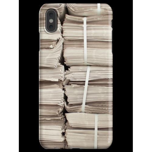 Papierstapel iPhone XS Max Handyhülle