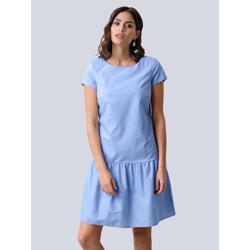 Alba Moda, Kleid mit angesetzter Rüsche am Abschluss, weiß