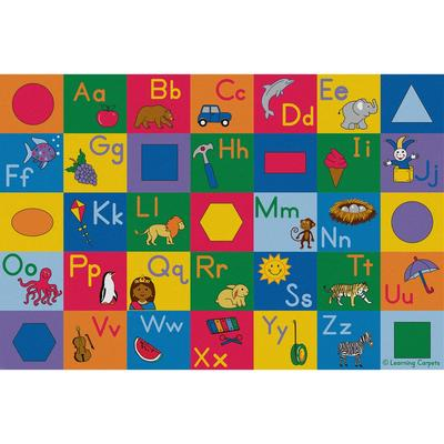 Colorful Alphabet and Geometric Shapes - Rectangle Large - Children's Factory CPR3095