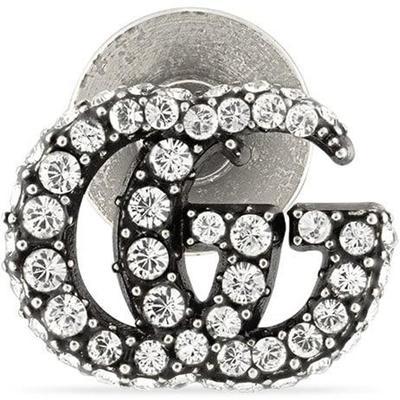 Gucci Broche double g avec cristaux
